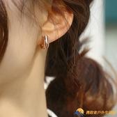 款潮高級感耳釘氣質純銀耳圈女網紅耳扣大氣耳飾【勇敢者】