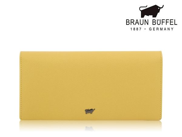 【全新品公司貨】BRAUN BUFFEL 可放零錢長皮夾 檸檬黃 【寧寧小舖/台中30年老店】BF652-200-1