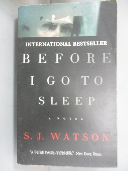 【書寶二手書T8/原文小說_NGC】Before I go to Sleep_S. J. Watson