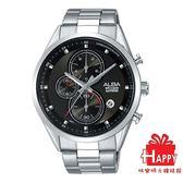 日本ALBA雅柏錶  型男必備**廣告款 活力設計感計時腕錶   VD57-X106D(AM3463X1) -X銀