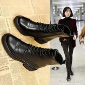 新款馬丁靴女英倫風春秋百搭單靴機車短靴冬季加絨網紅瘦瘦靴 雙十二全館免運
