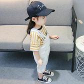 2018新款二三歲女寶寶夏裝牛仔背帶褲一四女童夏季褲子兒童短褲❥ 全館1元88折