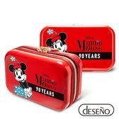 Deseno Disney 迪士尼 米奇系列 90週年 限量 紀念 手拿包 收納盥洗包 化妝包 航空硬殼包 201 米妮紅