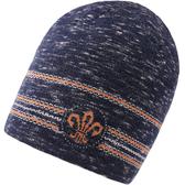 羊毛毛帽-護耳條紋提花捲邊男針織帽2色73wj32[時尚巴黎]
