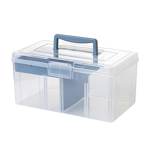 Mr.box【024116-01】多用途透明手提分類收納盒(中款)3入組