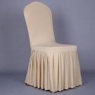 椅子套 彈力連體餐桌凳子套椅子套罩酒店家用餐廳座椅套布藝通用簡約現代 交換禮物