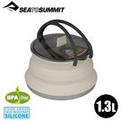 【Sea To Summit澳洲 X-摺疊茶壺1.3L《砂礫灰》】STSAXKETSS1.3/附蓋/耐熱180度/登山野炊