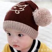 嬰兒帽子秋冬嬰幼兒純棉女寶寶可愛狐貍針織毛線帽男童保暖護耳帽 伊鞋本鋪