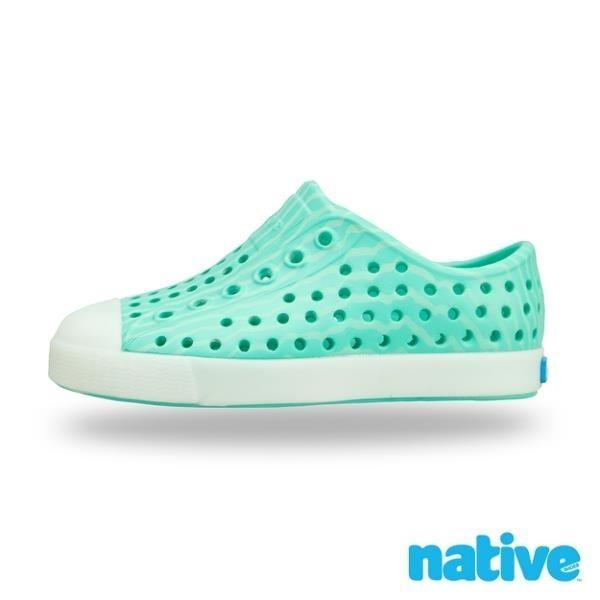 【南紡購物中心】【native】大童鞋 JEFFERSON 小奶油頭鞋(薄荷綠)