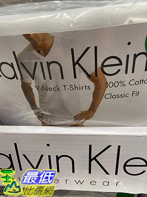 [COSCO代購] C319105 CALVIN KLEIN TEE 6 PACK 男純棉短袖V領內衣6入 美國尺寸:L-XL