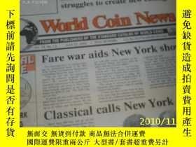 二手書博民逛書店World罕見Coin News(Vol.19,No.13)(J