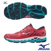 MIZUNO WAVE SKY 慢跑鞋 珊瑚紅X銀 J1GD170239 女鞋