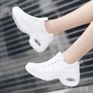 氣墊鞋 女白色女鞋跑步運動鞋夏季網面透氣休閒鞋氣墊旅遊鞋跳舞單鞋 育心館
