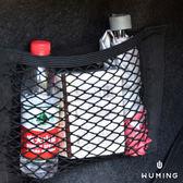 車用 雙層 魔鬼氈 收納袋 網袋 置物網 固定網 置物袋 雜物 收納 汽車 車內 車上 『無名』 N01120