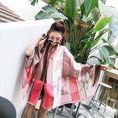 絲巾女夏季度假防曬披肩圍巾兩用沙灘巾超大海邊海灘紗巾 港仔會社