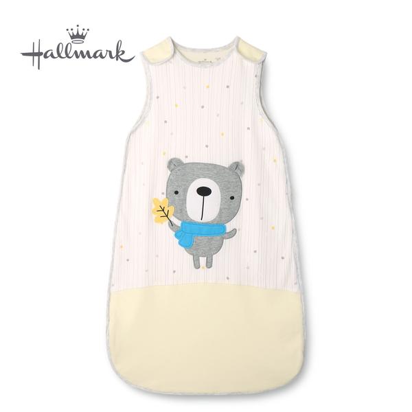Hallmark Babies 圍巾小熊純棉保暖夾棉背心睡袋 HH3-N01-AC-AU-MY