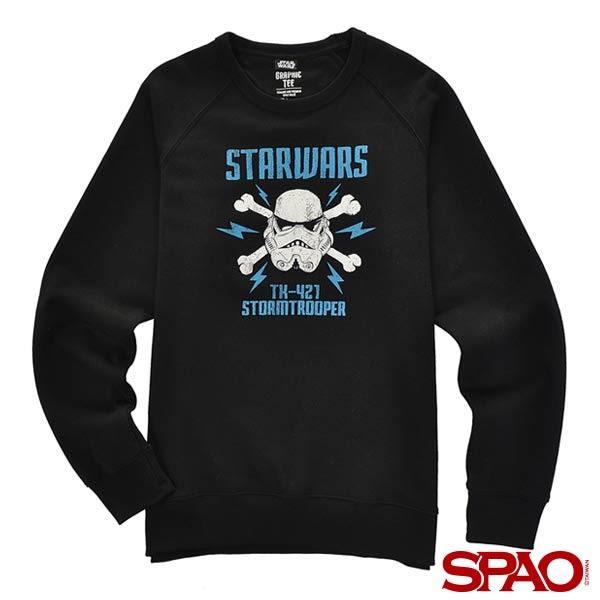 SPAO男款Star Wars聯名印花大學T-共3色