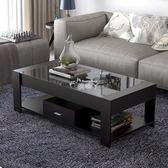 茶几桌 簡約現代鋼化玻璃茶几桌子小戶型創意長方形茶桌 客廳 非實木igo 俏腳丫