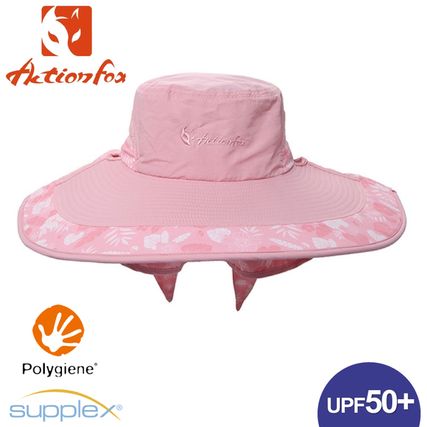 【ActionFox 挪威 抗UV大遮陽帽《粉紅》】631-5125/防曬帽/圓盤帽/透氣/戶外/登山/園藝/釣魚