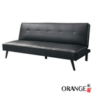 【采桔家居】艾雅莉  現代黑皮革機能沙發/沙發床(展開式機能設計)