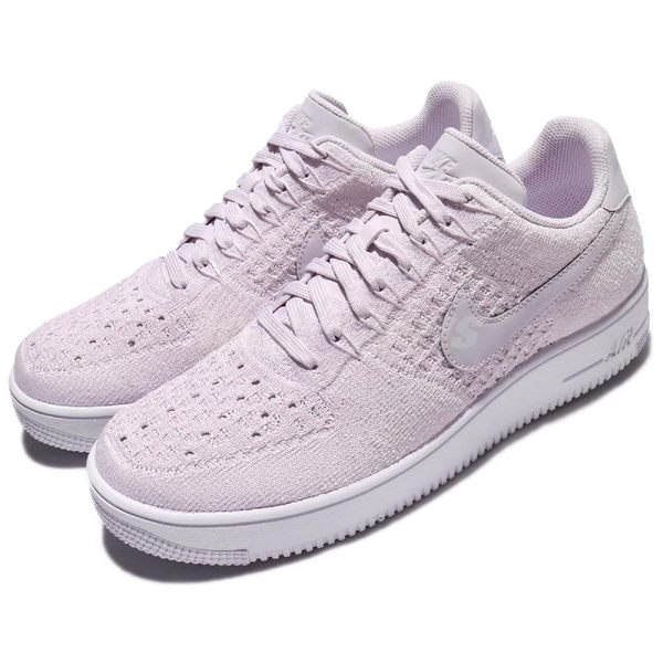 Nike 休閒鞋 AF1 Ultra Flyknit Low 紫 粉紫 飛線編織 運動鞋 低筒 男鞋【PUMP306】 817419-500