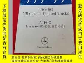 二手書博民逛書店Price罕見Iist BM Custom TaiIored Trucks ATEGO Type range【81