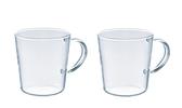 金時代書香咖啡 HARIO 玻璃馬克對杯 360ml SRM-1824