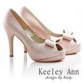 ★零碼出清★ Keeley Ann新娘晚宴~細緻亮蔥蝴蝶結魚口高跟鞋(粉金色 )