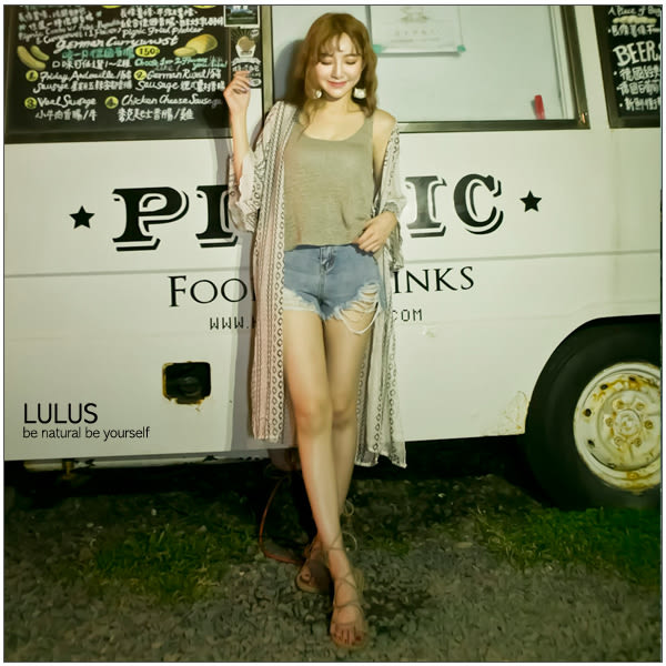LULUS-D韓製-洞洞微透膚無袖上衣-3色  現+預【01111143】