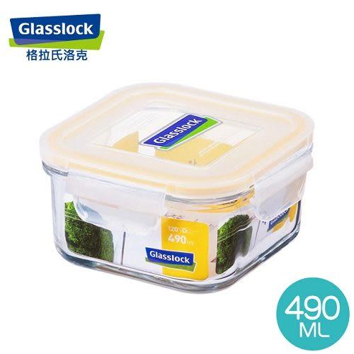 【Glasslock】強化玻璃微波保鮮盒 - 方形490ml  RP523