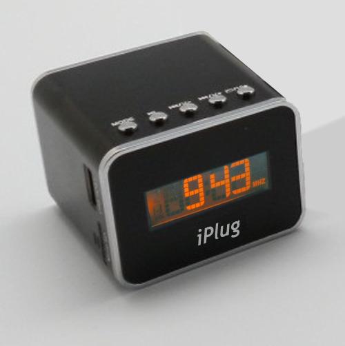 送充電器!【iPlug MiniHiFi-XT】藍牙口袋型迷你音響,可插卡播放音樂、具有FM收音機,可設定鬧鐘