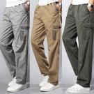 工作褲男夏季寬鬆耐磨耐臟薄款直筒汽修電焊多口袋迷彩勞保長褲子 1995生活雜貨