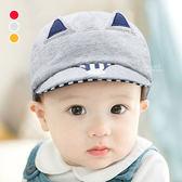 可愛狐狸字母刺繡鴨舌帽 遮陽帽 帽子 童帽 棒球帽