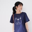 【慢。生活】熊寶貝刺繡休閒T恤 1500  FREE 深藍色