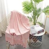 北歐流蘇純色浴巾套裝HOME系列卡通刺繡浴巾兩件套成人柔軟毛圈