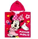*幼之圓*迪士尼正版授權~米妮連帽浴巾~100%純棉~透氣速乾吸濕佳~