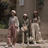 Queen Shop【04050663】縮腰抽繩設計吊帶褲 三色售*現+預*