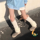 日系原宿風中筒襪泡泡襪復古素色堆堆襪瘦腿襪套襪子女【創世紀生活館】