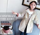 女童外套春秋2018新款韓版兒童秋裝風衣中長款洋氣12大童裝15歲潮 至簡元素