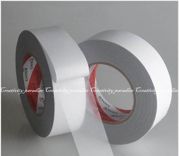 【無痕雙面膠2.5cm】長50M可移動無殘膠超黏性雙面膠帶 PET雙面透明膠帶 雕刻機適用 50米