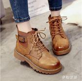 短筒靴 馬丁靴女英倫風短筒新款女鞋學生百搭短靴子 ZQ2314『夢幻家居』