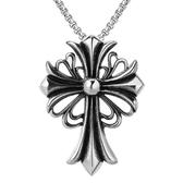 《QBOX 》FASHION 飾品【CHF650】精緻個性歐美龐克十字架鑄造鈦鋼墬子項鍊/掛飾