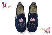 卡娜赫拉 童鞋 成人女鞋 口袋帆布 懶人鞋 休閒鞋 L7300#藍色◆OSOME奧森鞋業