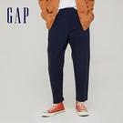 Gap男裝 商務風中腰直筒型休閒褲 911065-海軍藍