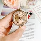 FOSSIL美國品牌Scarlette Mini華麗晶鑽真皮腕錶ES4556公司貨