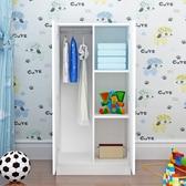 2門衣櫃木質組裝衣櫥兒童簡約經濟型成人出租房實木馬六甲  免運快速出貨
