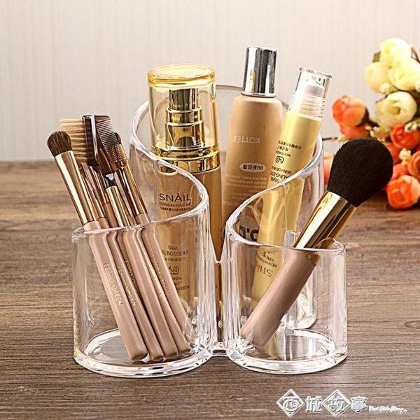 化妝刷收納筒透明美妝刷桶筆架壓克力梳妝台彩妝刷具盒大簡約家用igo    西城故事