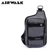 【橘子包包館】AIRWALK 漫街行旅休閒單肩包/單肩後背包 A755301610 灰色