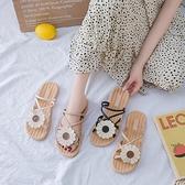 夏季涼拖鞋百搭平底羅馬女鞋涼鞋休閒時尚 樂淘淘