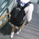 FINDSENSE H1  韓國 時尚 潮 男女 情侶包百搭 PU皮大容量 雙肩